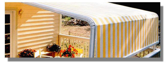 Full coverage patio awning system